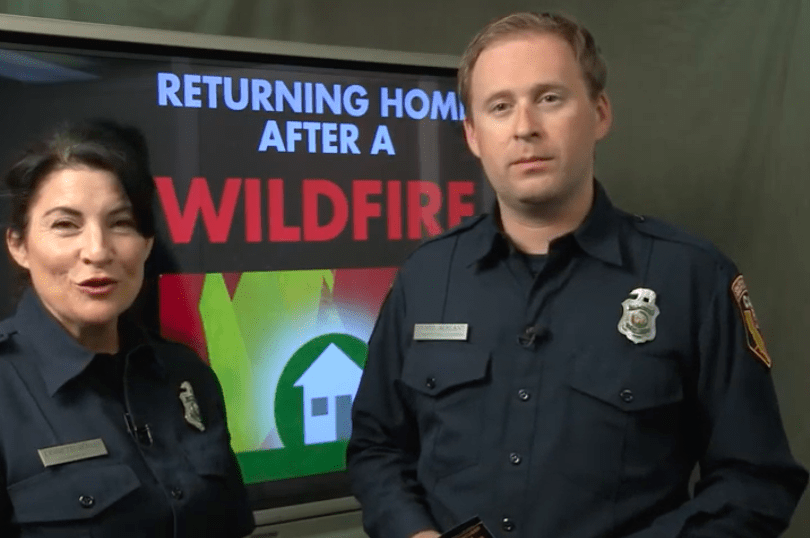 Returning Home After A Wildfire