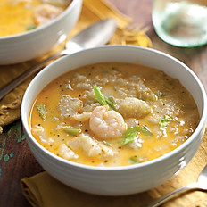Mirliton Soup with Shrimp and Tasso