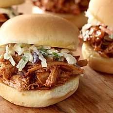 Pulled Pork and Sweet Hawaiian Roll Sliders with Slaw