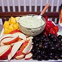 Fresh Fruit with Pistachio Cream Cheese Dip