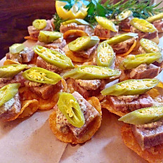 Cajun Pork Terrine with Creole Mustard and Pickled Okra