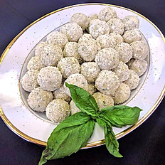 Artichoke Balls made with 3 Cheeses and Fresh Herbs