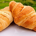 Croissants with Butter and Preserves