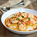 New Orleans Style Shrimp & Grits with Andouille