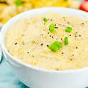 White Cheddar and Green Onion Grits