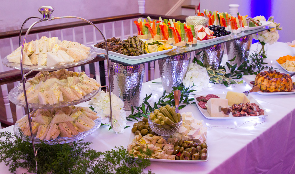 Charcuterie, canapes and finger foods