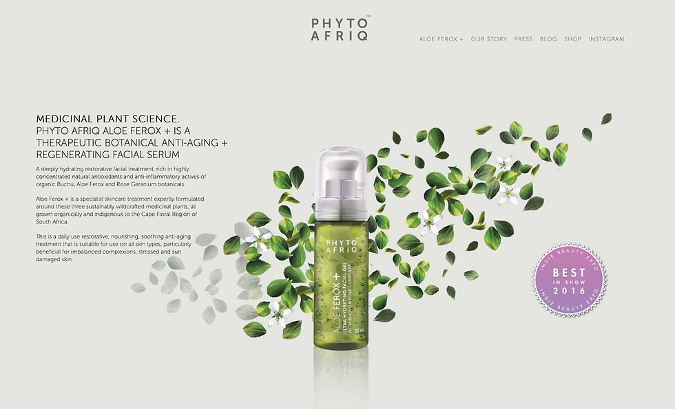 Phyto Afriq website landing page.png