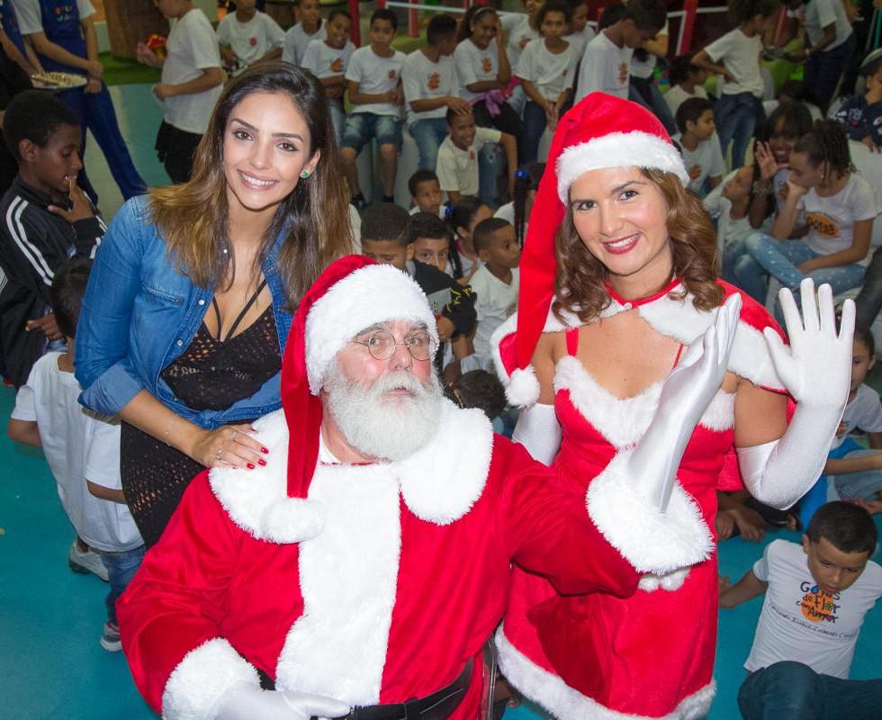 Carol Celico e Papai Noel