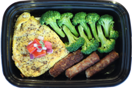 Sausage Omelette and Veggies