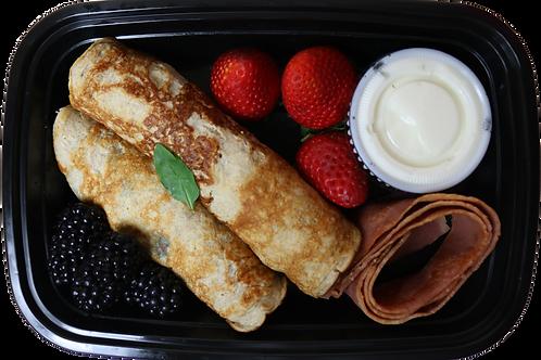 Banana Vanilla Protein Pancakes