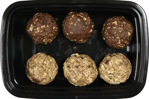 Banana Oat and Chocolate Protein Bites