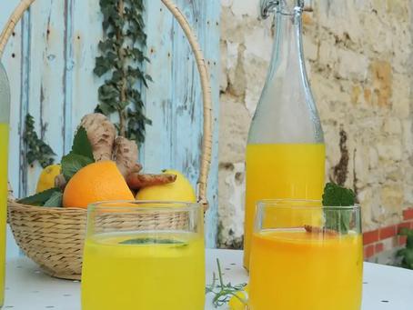 Recette et bienfait de l'Infusion curcuma citron gingembre