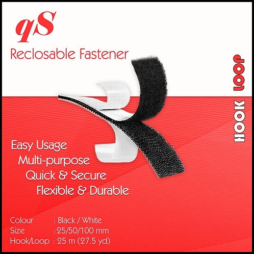 QS Hook w/ Rubber Adhesive Black