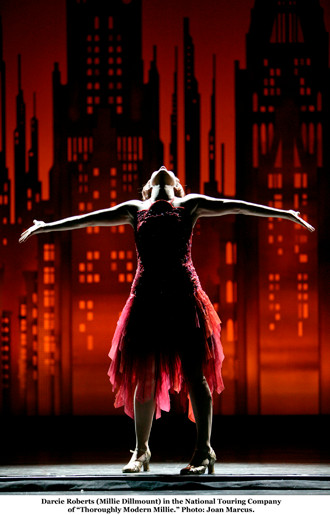 Darcie as Millie in The Broadway Tour