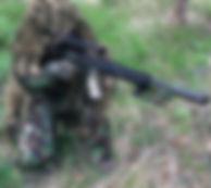 Magazine fed combat sniper paintball rifle