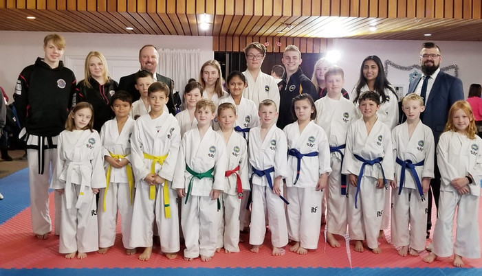 Friendly City TKD Competition Team at Ontario Champtionships, 2019