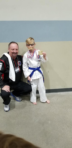 Canadian National Championships Grand Champion from Friendly CIty TKD, in Calgary, AB