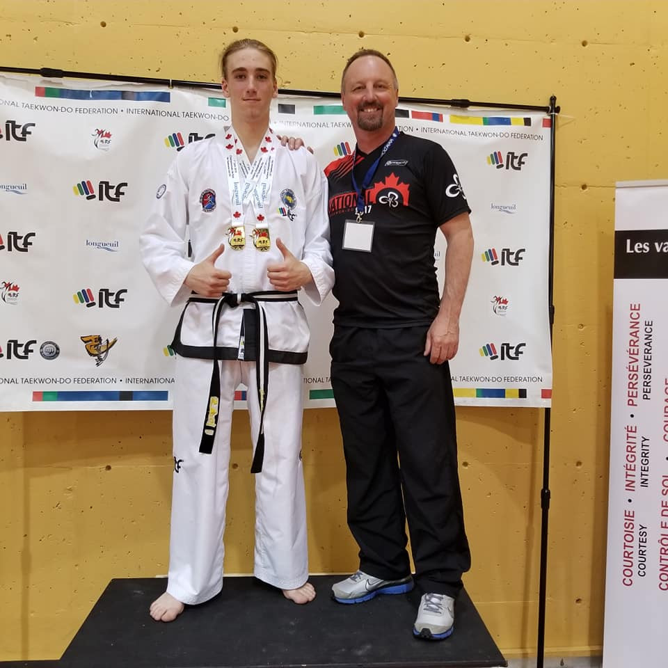 Canadian Eastern Championships Champion from Friendly CIty TKD, in Longueuil, QC