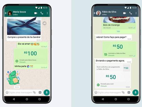 Transfira dinheiro direto pelo WhatsApp!