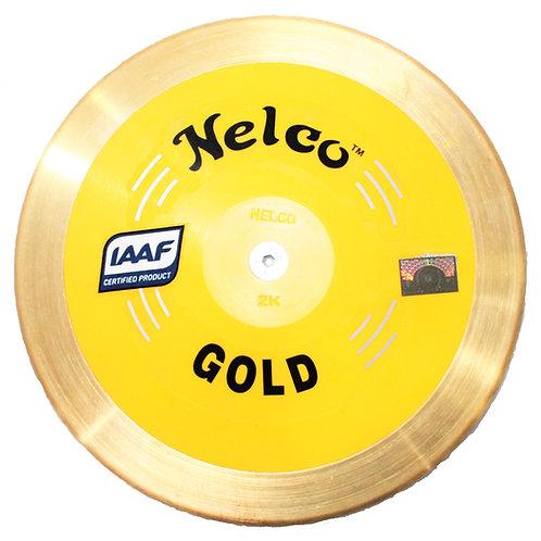 Nelco 2kg Gold Brass Rim Discus