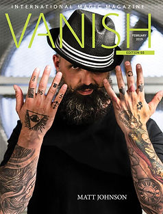 international performer, illusionist, magician and escape artist on the cover of vanish