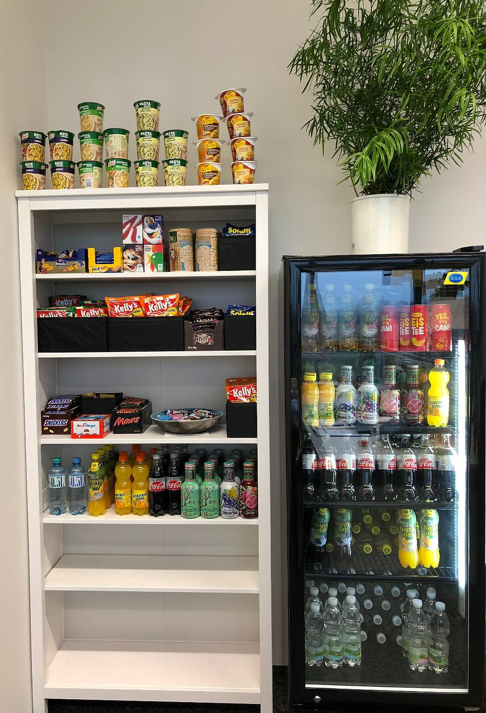 kostenlose Getränke und Snacks für unsere Mitarbeiter