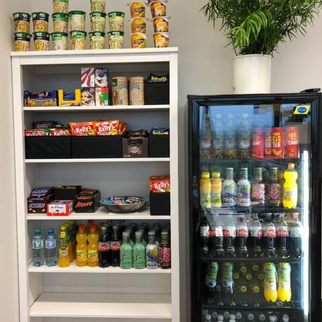 Kostenlose Snacks und Getränke für unsere Mitarbeiter