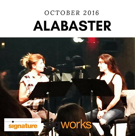 Dani Stoller and Vanessa Lock in Audrey Cefaly's Alabaster at Theater Alliance