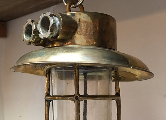 Plafonnier cuivre et laiton