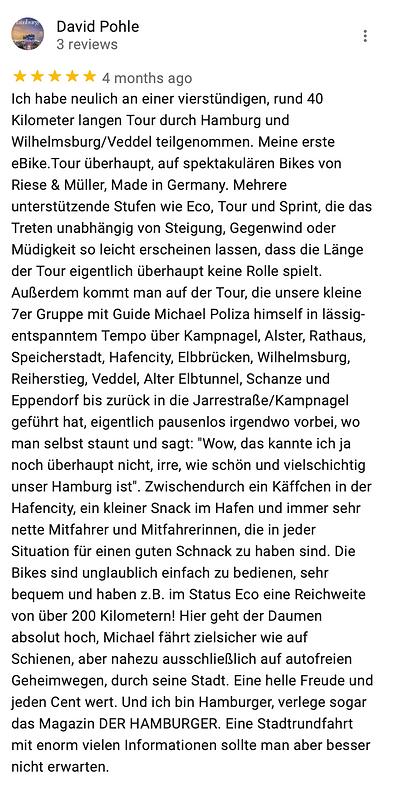Michael Poliza eBike Adventures Review RIESE & MÜLLER eBike Touren Hamburg