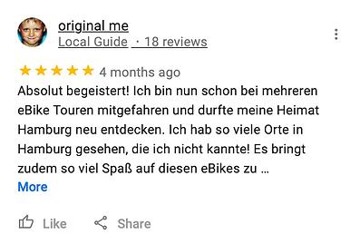 Michael Poliza eBike Adventures Review RIESE & MÜLLER eBike Tour Hamburg