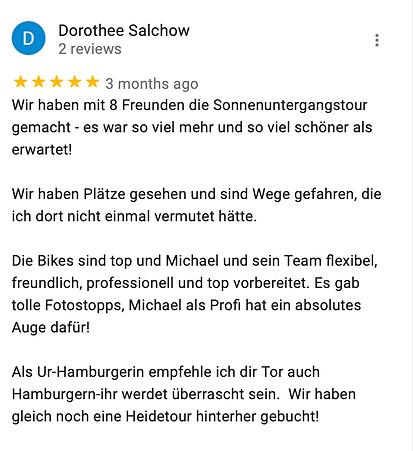 Michael Poliza eBike Adventures Review RIESE & MÜLLER eBike Tour Hamburg Sonnenuntergang