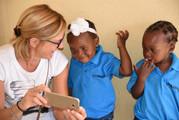 Guests visiting kids at MAtimba day care