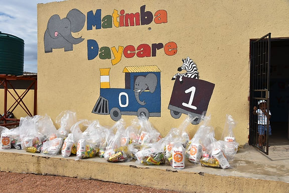 Matimba Day Care food parcels for distributing during Covid-19