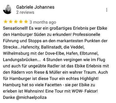 Michael Poliza eBike Adventures Review eBike Touren Hamburgs Süden