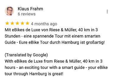 Michael Poliza eBike Adventures Review eBike Tour Hamburg RIESE & MÜLLER