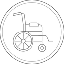 Icon of wheelchair