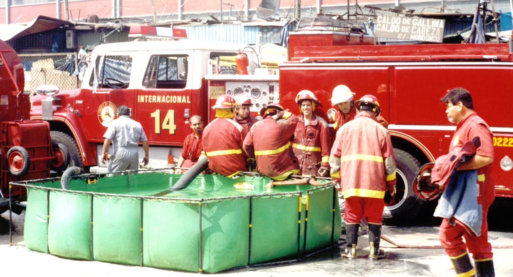 Incendio en Mercadillo  Malvinas