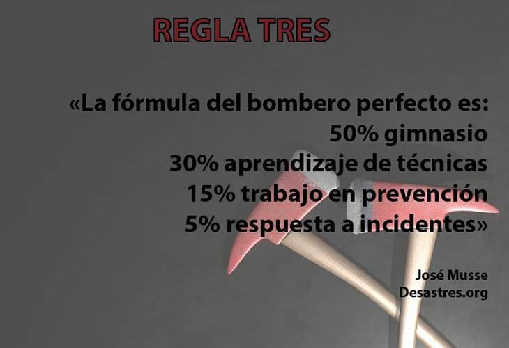 Regla 3:  La fórmula del bombero perfecto
