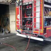 Incendio en una empresa de limpieza