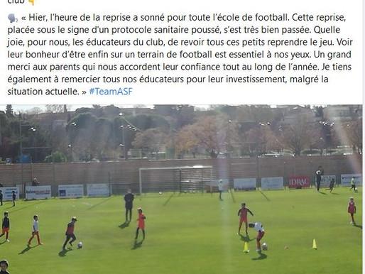 reprise foot jeunes avec protocole sanitaire: