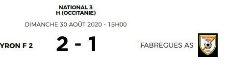 Premiers résultats coupe Gambardella et N 3 ( séniors ):
