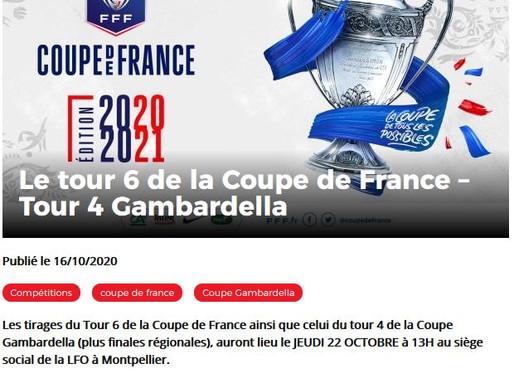 tirage 6° tour coupe de France :
