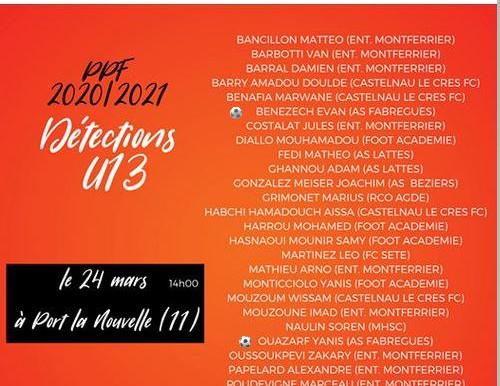 Selection U13