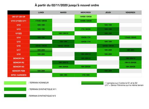 nouveaux planning: