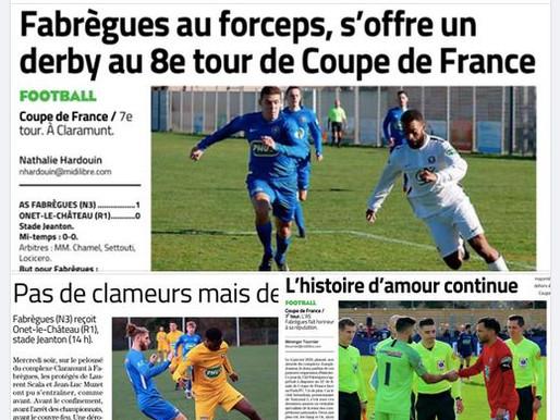 revue de presse coupe de France 2020/2021: