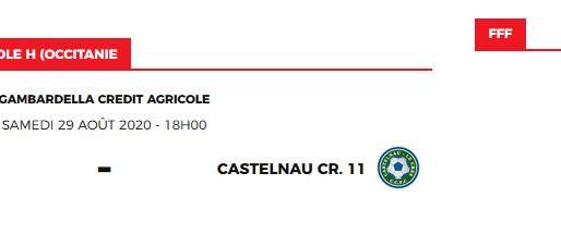 match coupe Gambardella du 29 août 2020: