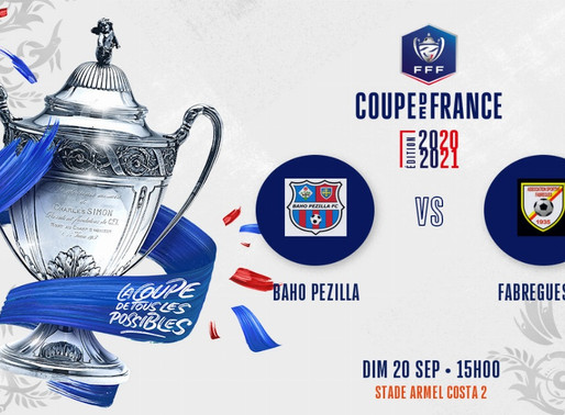Résultats du tirage 3° tour Coupe de France du 09/09/20
