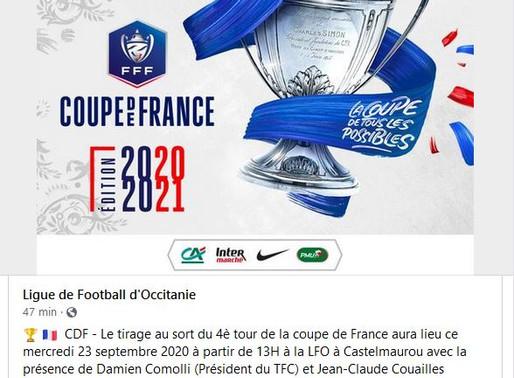 résultat du tirage tour 4 coupe de France 2020/2021: