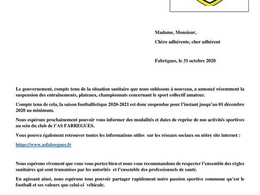 lettre comité directeur: